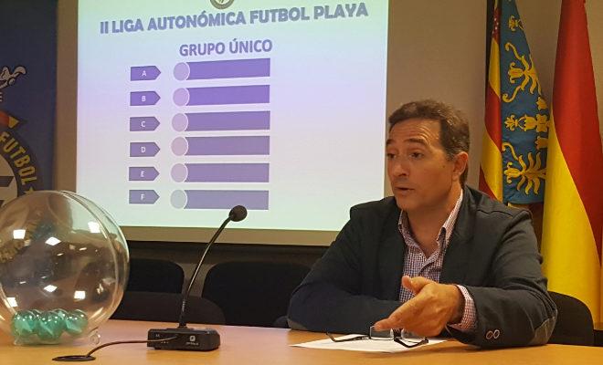Salvador Gomar, durante un acto de la Federación de Fútbol de la Comunidad Valenciana.