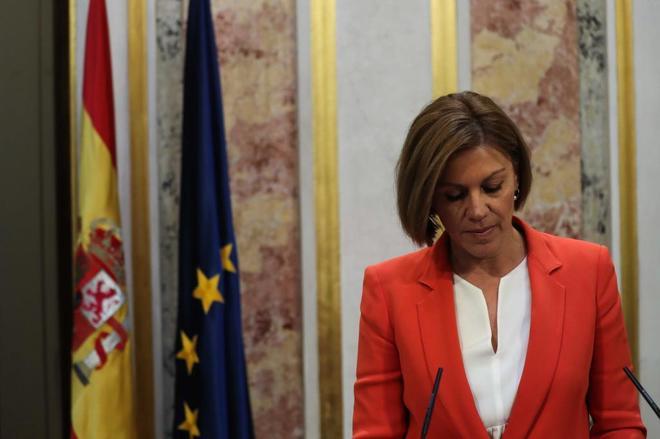 La secretaria general del PP, María Dolores de Cospedal, en el Congreso