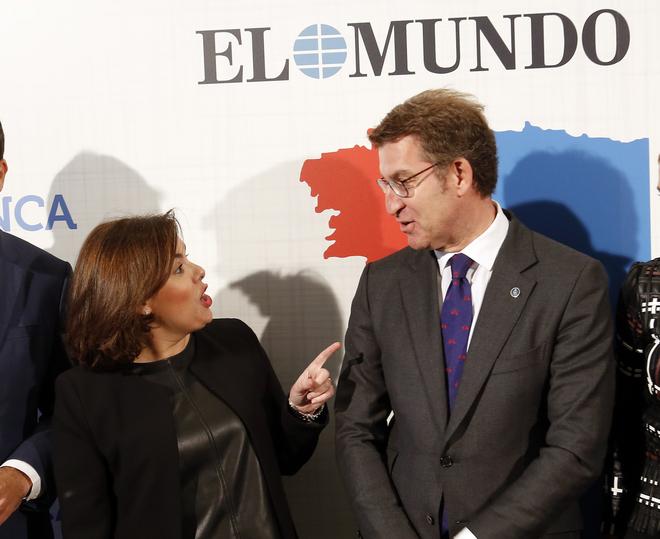 Soraya Sáenz de Santamaría y Alberto Núéz Feijóo, juntos en un...