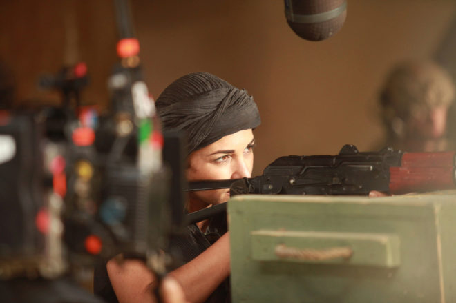 La actriz Paula Echevarría, en el rodaje de la miniserie 'Los...