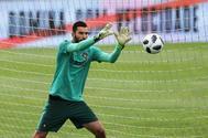 Rui Patricio, durante un entrenamiento de la selección portuguesa.