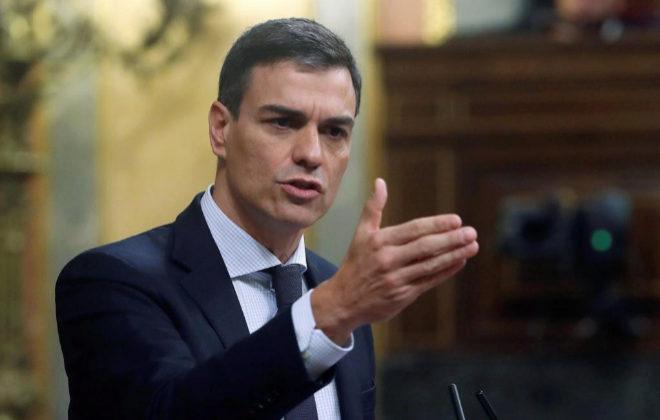 El nuevo presidente del Gobierno, Pedro Sánchez, este viernes en el Congreso.