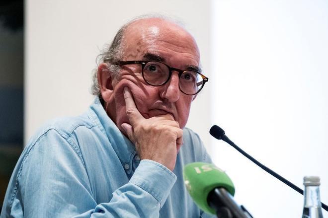 Jaume Roures, socio gestor de la compañía Mediapro, en una rueda de prensa en París.