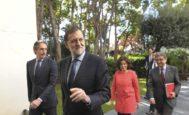 El ex presidente del Gobierno Mariano Rajoy durante una visita a Barcelona en 2017