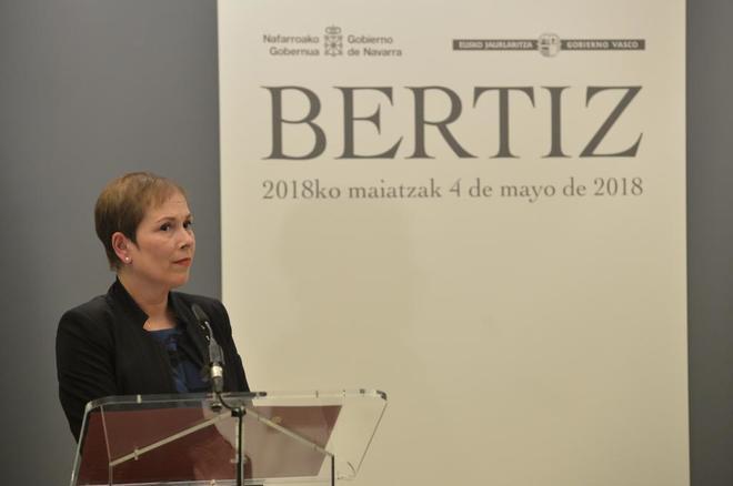 La presidenta de Navarra Uxue Barkos.