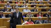 Mariano Rajoy, durante una sesión de control al Gobierno en el Senado...