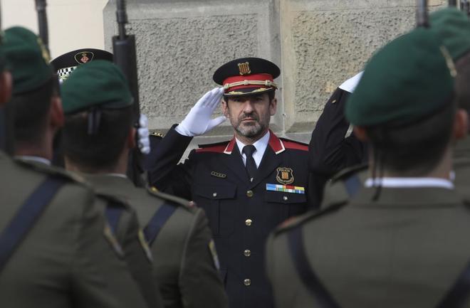 El comisario Ferran López durante un acto en Capitanía General el pasado enero en Barcelona