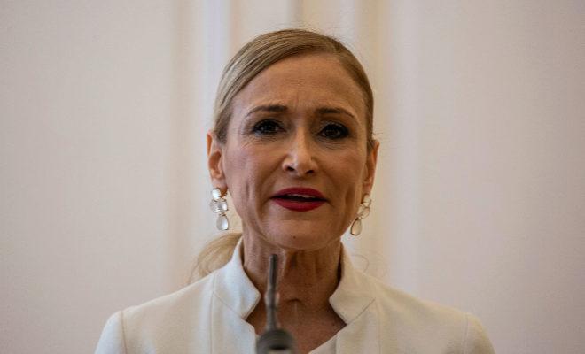 Cristina Cifuentes, el día de su renuncia como presidenta de la Comunidad de Madrid.