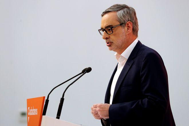 El secretario general de Ciudadanos, José Manuel Villegas, durante la...