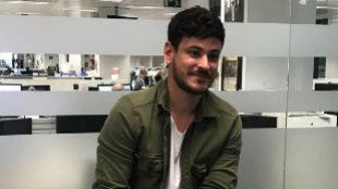 Luis Cepeda en la redacción de El Mundo