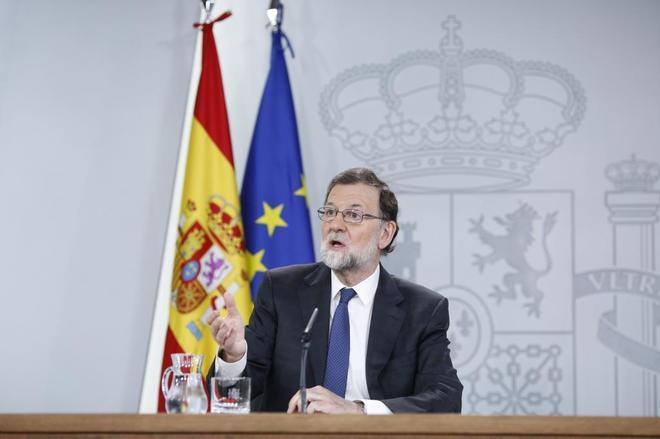 El ex presidente del Gobierno Mariano Rajoy después de un Consejo de...