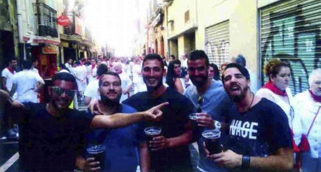 Los miembros de 'La Manada' (i-d) Ángel Boza, José Ángel Prenda,...