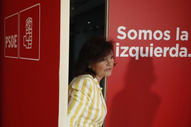 Carmen Calvo, vicepresidenta e Igualdad; la andaluza María Jesús Montero, Hacienda; Ábalos, Fomento