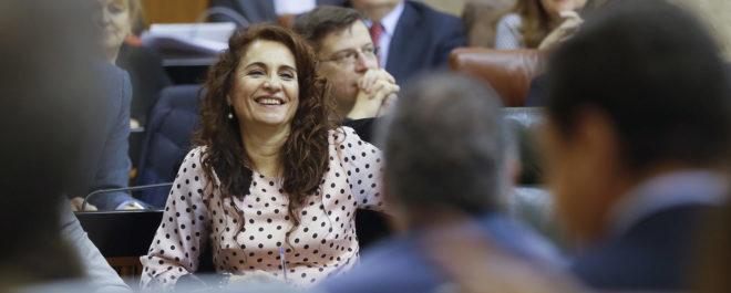 María Jesús Montero, consejera de Hacienda andaluza.