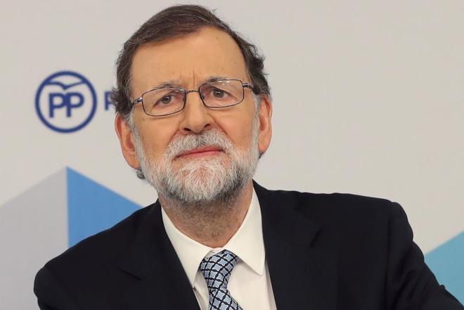 Mariano Rajoy en la comparecencia en que ha anunciado su renuncia a presidir el PP