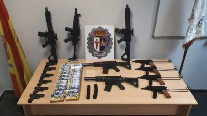 Material incautado por la Policía Municipal de Aranjuez.
