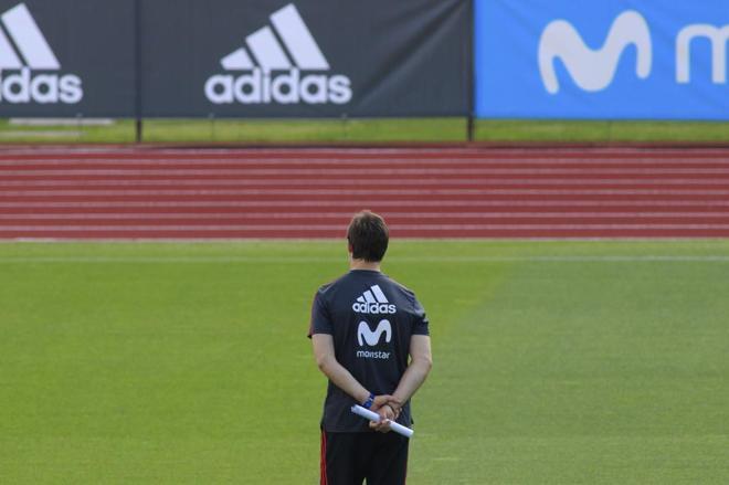 Julen Lopetegui, durante un entrenamiento de la selección.