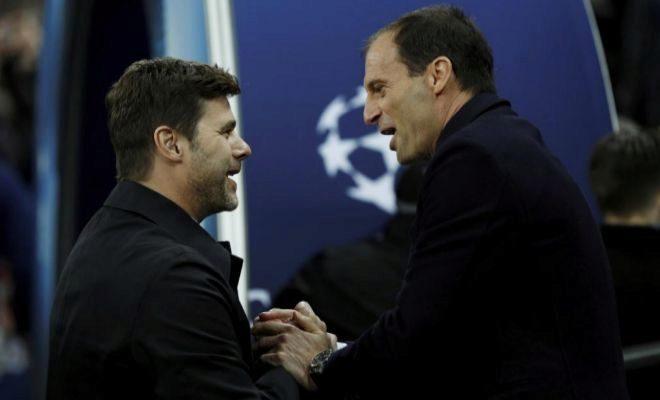 Pochettino y Allegri, antes de un Tottenham-Juventus, el pasado marzo en Wembley.
