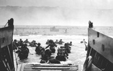 Fotografía del desembarco de Normandía