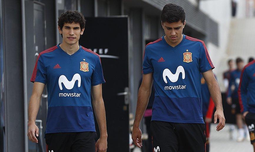 Vallejo y Rodri, en la concentración de la Selección.