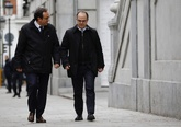 Jordi Turull y Josep Rull a la entrada del Tribunal Supremo el pasado...