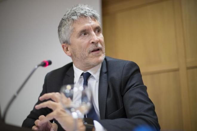 Fernando Grande-Marlaska, durante su intervención, el año pasado, en los cursos de verano de la Universidad Menéndez Pelayo.