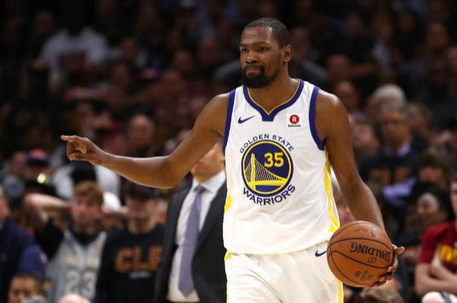 Kevin Durant durante el tercer partido de la final de la NBA.