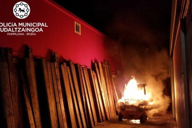 La Policía Municipal de Pamplona  investiga el sabotaje a los Corrales del Gas