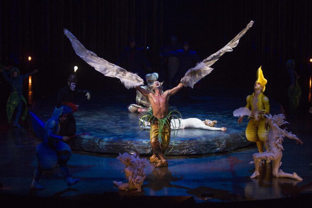 Imagen de una escena del Circo del Sol