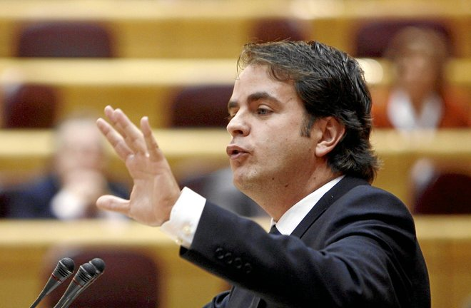 Roberto Bermúdez de Castro en el Senado en 2008.