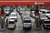 Detalle de una gasolinera propiedad de la petrolera venezolana PDVSA.