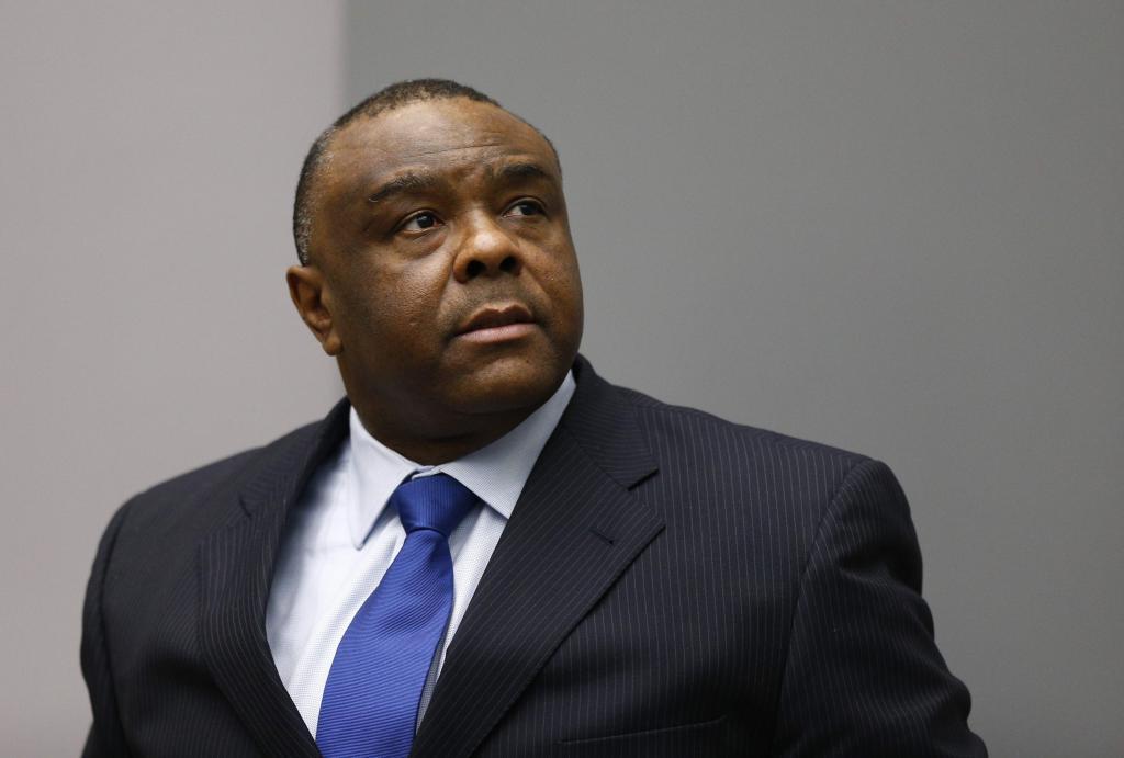 El ex vicepresidente congoleño, Jean-Pierre Bemba, en la Corte Penal Internacional.