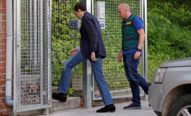 El ex presidente de la Generalitat Eduardo Zaplana el día de su detención. G3