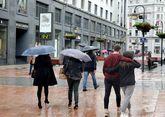 Una calle del centro de Oviedo, Asturias.