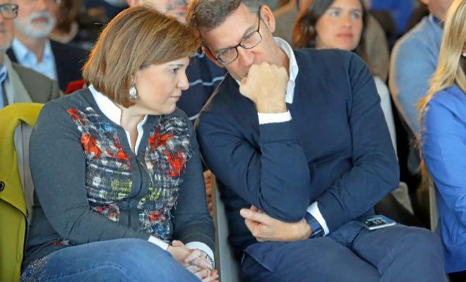 El presidente de la Xunta de Galicia, Alberto Núñez Feijóo, con Isabel Bonig.