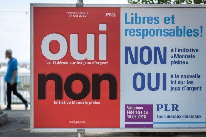 Los suizos rechazan la opción de prohibir la creación de dinero por parte de los bancos