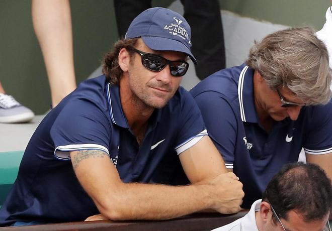 Moyà, durante el partido de Nadal contra Thiem en la final de Roland Garros.