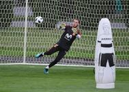 De Gea, durante un entrenamiento de la selección en Krasnodar.