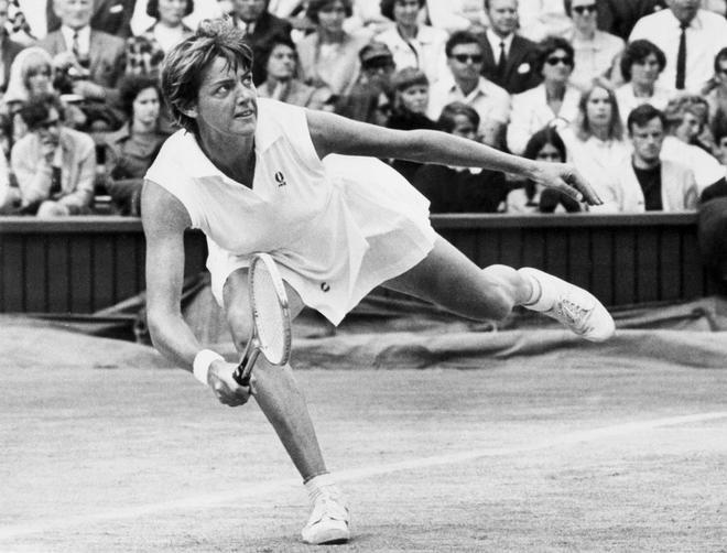 Margaret Court, durante el torneo de Wimbledon en 1970.
