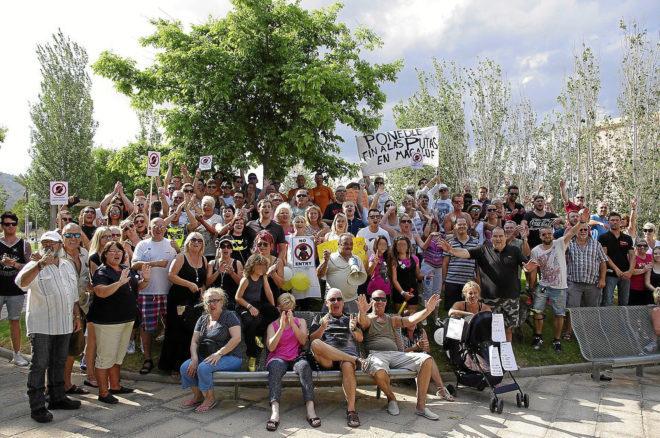 Protesta vecinal en Magaluf en 2014 contra la presencia de prostitutas.