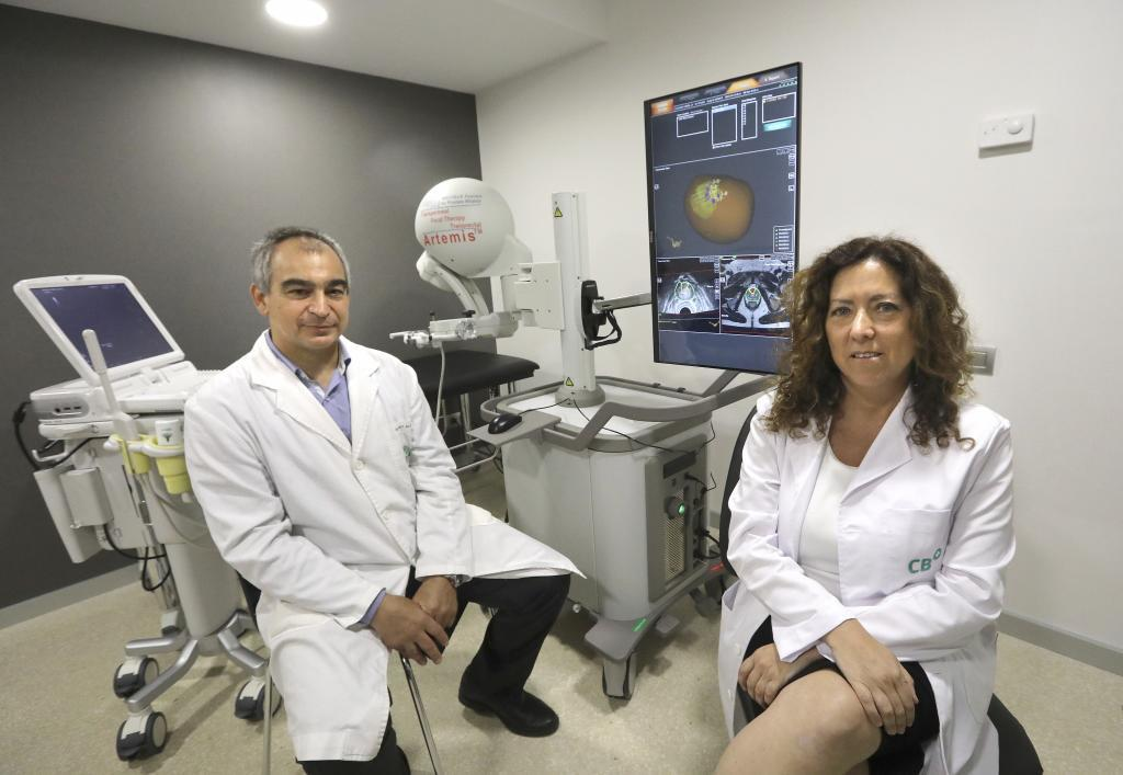centros de extracción de próstata con robot y