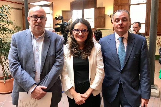 La consellera de Igualdad y Políticas Inclusivas, Mónica Oltra, ha revelado estas cifras en su visita a la capital de la Plana.
