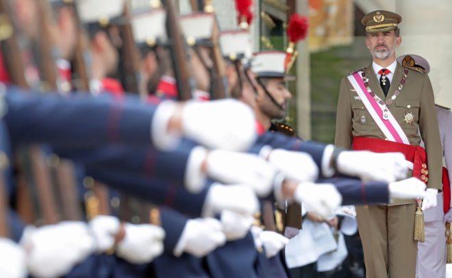 Felipe VI, en El Escorial, antes de la reunión bienal del Capítulo...