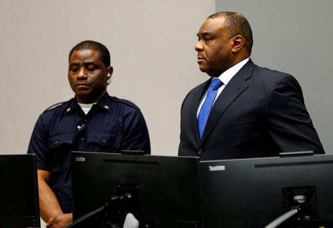 Jean-Pierre Bemba en el Tribunal de La Haya.