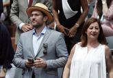 El ministro Màxim Huerta, este domingo en la final de Roland Garros...
