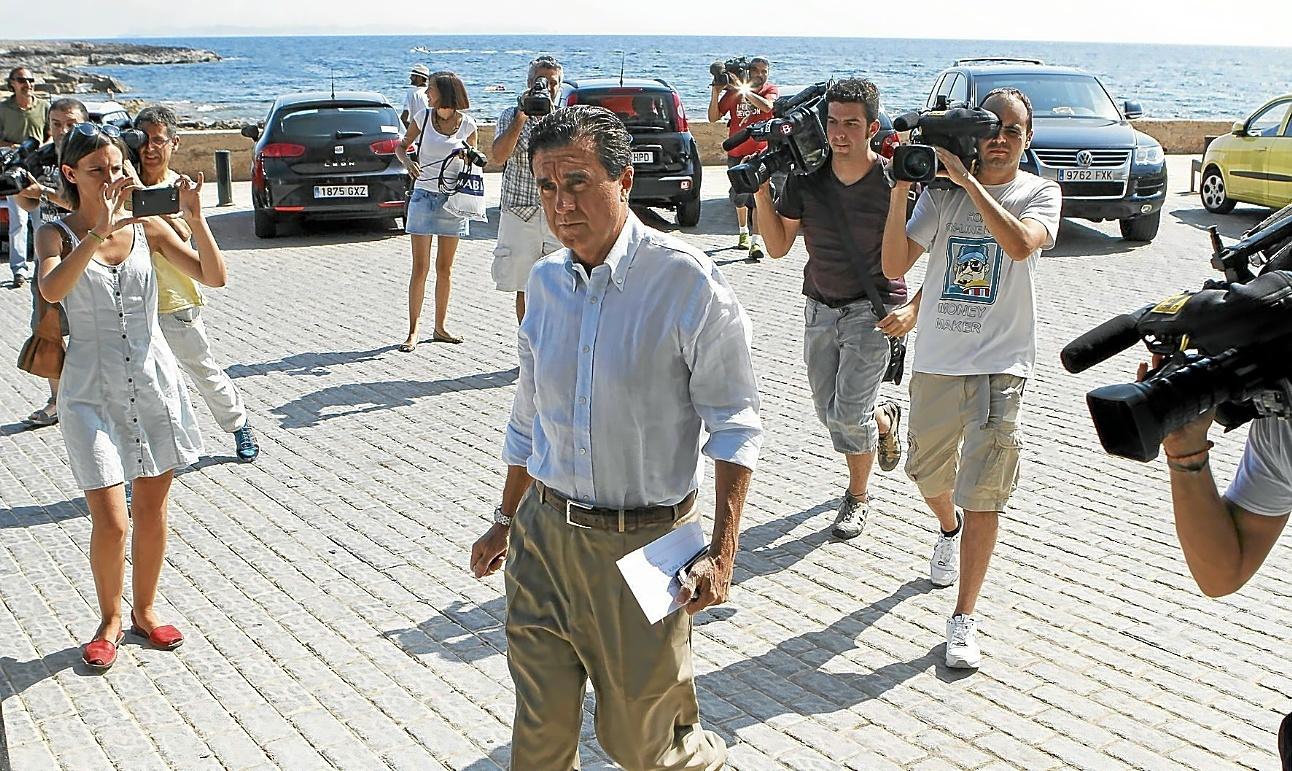 El ex presidente Jaume Matas, el día que se supo su condena por el sobrecoste del Palma Arena.
