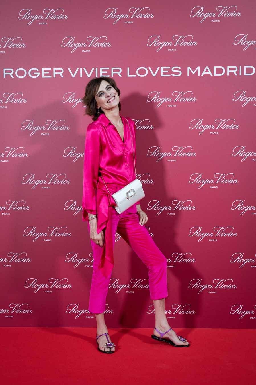 La ex modelo, embajadora de la firma, llevó blusa y pantalón...