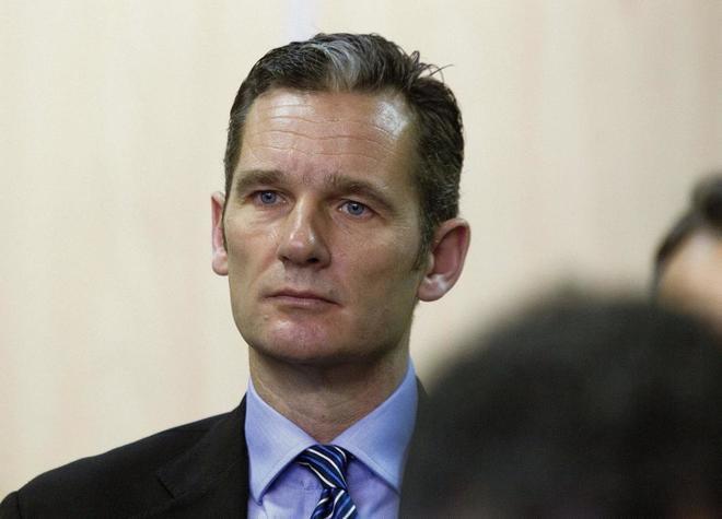 Iñaki Urdangarin, en el banquillo de la Audiencia Provincial de Palma.
