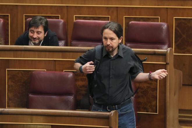 """Pablo Iglesias pide la dimisión """"inmediata"""" de Máxim Huerta tras conocerse su condena por fraude fiscal"""