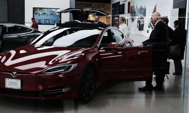 Una tienda de Tesla en Manhattan